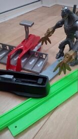 Hot Wheels launcher and monster track