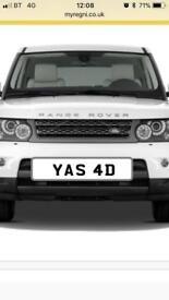 Cherished number plate on retention. YAS 4D yas yaz yasad Asad yasmin yazmin