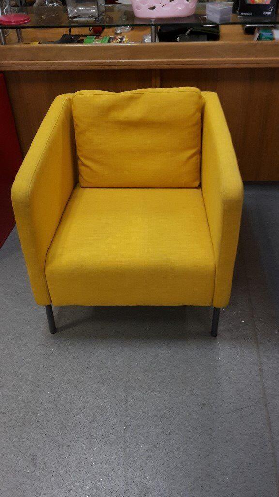 yellow ikea armchair ekero range in poplar london gumtree. Black Bedroom Furniture Sets. Home Design Ideas