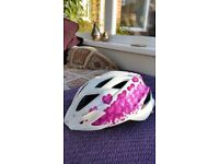 Girls cycle or skate helmet with elbow