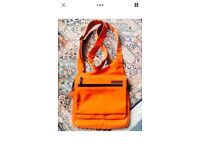 Original HEDGREN Unisex Orange Crossbody Shoulder Bag, VGC