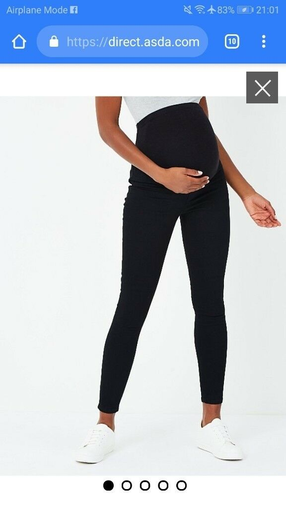 1b227e8ff5343 ️Maternity/ pregnancy over bump Black jegging size 16 as new | in ...