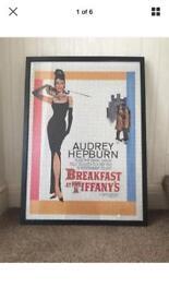 Breakfast at Tiffany's framed jigsaw Audrey hepburn