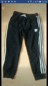Adidas kids track suit bottoms size 12-13 years