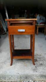 Telephone cabinet with drawer