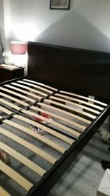 leather king size bed can deliver