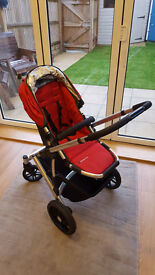 Uppa Baby Vista strowler, in red with basinet