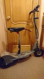 Electric seated scooter E300s for sale.