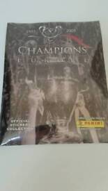 Panini Champions League 2005 Anniversary album...still sealed with all stickers
