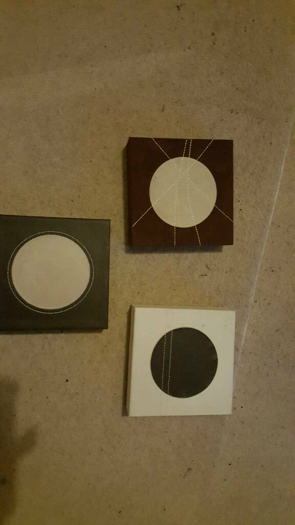 3x small canvases