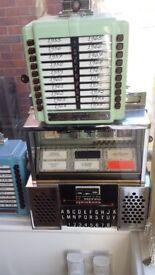 Jukebox wallboxes,Seeburg,Rowe,Wurlitzer