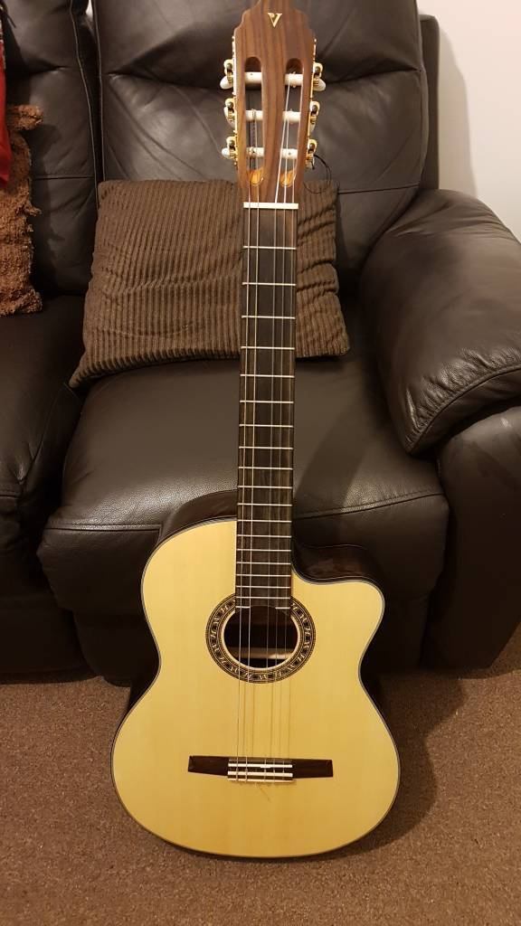 Valencia classical semi acoustic guitar. New