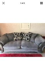 CSL grey black three and two seater sofas CAN DELIVER
