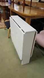 Gate Leg Table Painted White