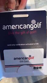 American Golf Gift Card £80