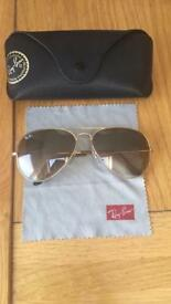 Genuine Ray ban Aviator as new with Case