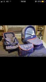 BebeCar pram with carrycot & seat