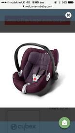 Cybex AtonQ Plus car seat & Isofix base