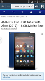 Amazon fire tablet marine blue brand new not Samsung ipad