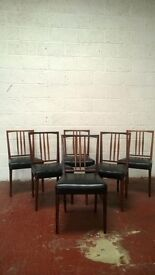 Retro Gordon Russell rosewood dining chairs