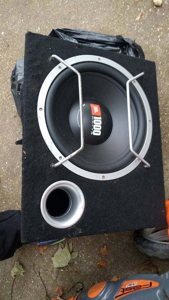 1000 watts _JBL high performance subwoofer , GT4 Series