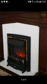 Electric Fireplace Suite with coal effect fire