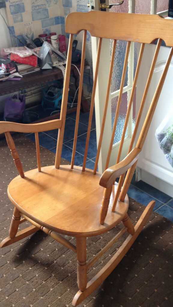 Antique pine rocking chair circa 1980 - Antique Pine Rocking Chair Circa 1980 In Codsall, West Midlands