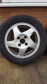 5 X 15 INCH 4 STUD ALLOY WHEEL'S WITH TYRE'S