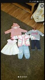 Baby girl 0-3m clothing bundle