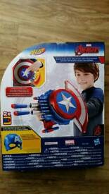 Avengers Captain America NERF Reveal Shield BNIB