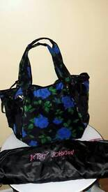 BETSEY JOHNSON Soft Black and Blue Travelling /weekend /shopping bag collectable