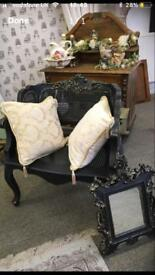 Laura Ashley wicker chair