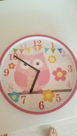 Kids owl clock