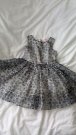 Frilly leopard print dress