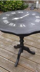 Hand Painted Clock Design Table