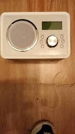 Red Cream DAB Radio