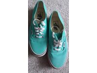 Vans pumps ( Colour Mint ) in size US 8.5