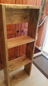 Rustic bookcase / shelving unit