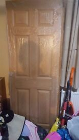 6 panel lightweight veneer interior doors by Premdoor.(×3)
