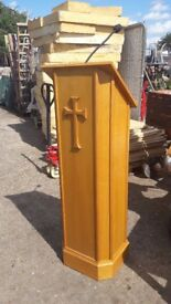 Wooden Church Pulpit / Lectern