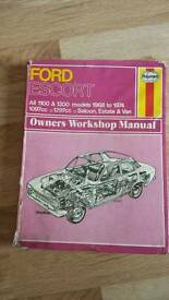 Ford Escort Haynes Manual Petrol