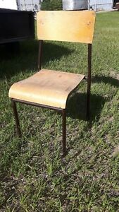 Wooden birch chairs / stackable