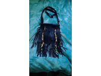 Genuine Blue Leather Handbag