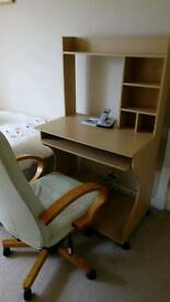 Computer work station and chair