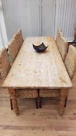 8ft x 3ft Solid Wood Dining Table