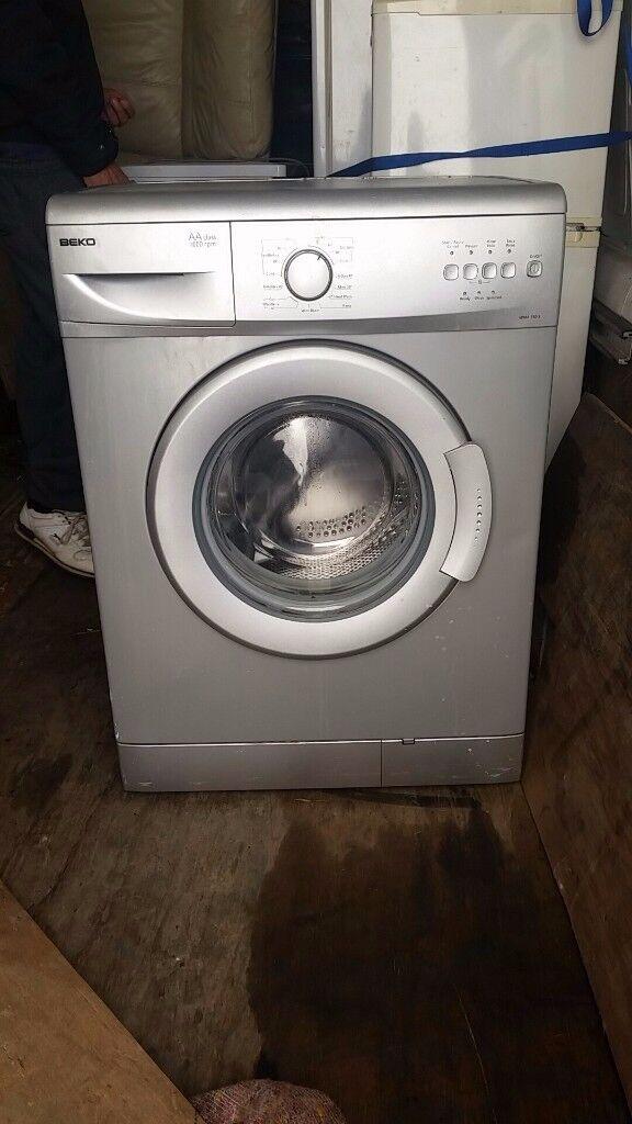 Beko silver washing machine