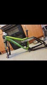 Kona stinky bike with shock FORKS NOT INCLUDED