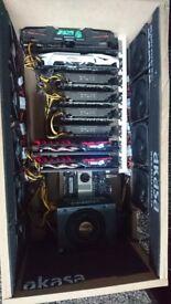 8 GPU mining rig Octominer 1060 3GB/6GB 189MH/s ETH