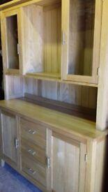 Akenham solid Oak wall unit
