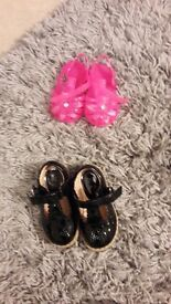 Baby Girls shoes, size 3 & 4